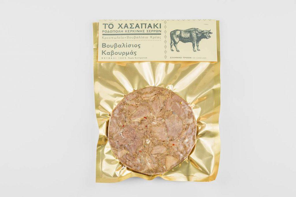 Βουβαλίσιος Καβουρμάς με 100% βουβαλίσιο κρέας