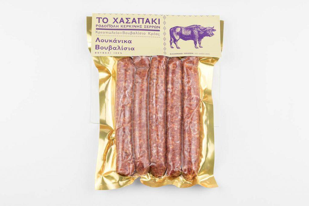 Βουβαλίσιο λουκάνικο, 100% βουβαλίσιο κρέας
